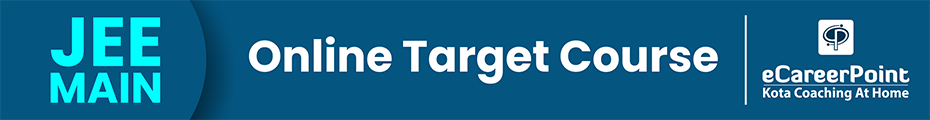 JEE Main Online Target Course